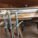 Vervangen houten stootrand werkbootje