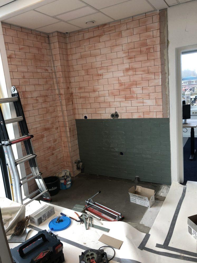 Ombouwen keuken naar office coffeecorner